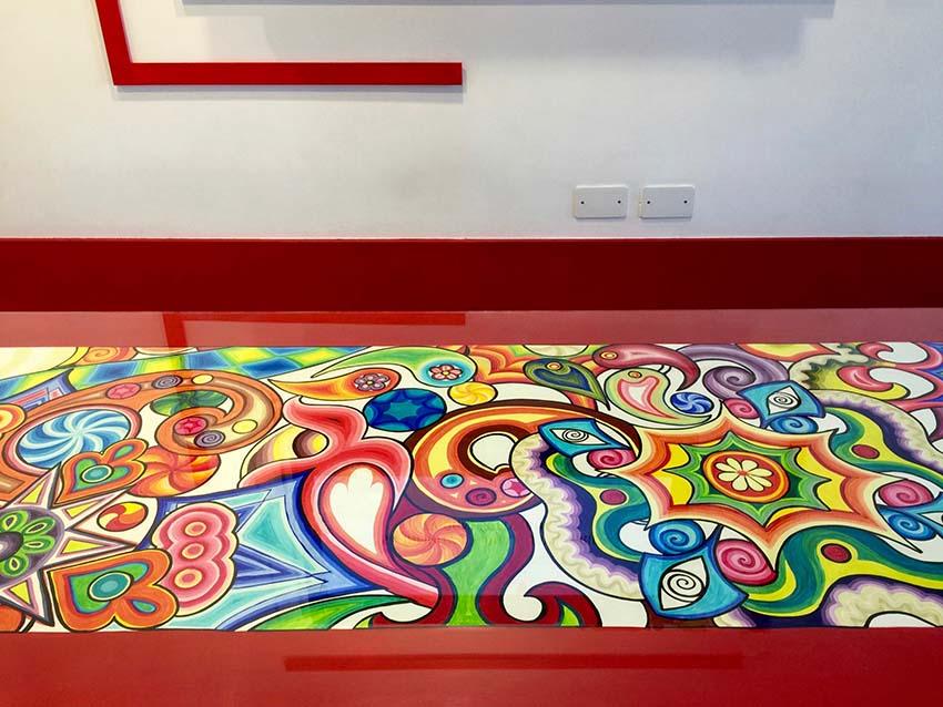 tavolo multicolore
