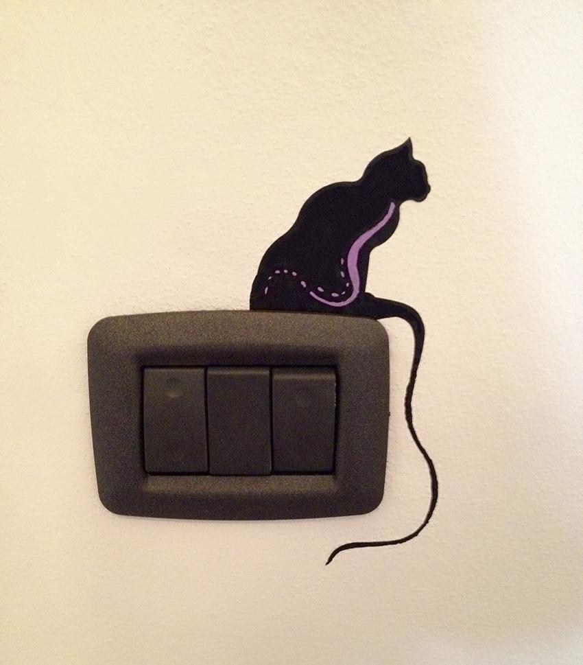 placca interruttore gatto virgola
