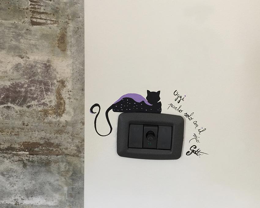 placca interruttore gatto frase